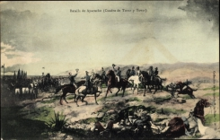 Künstler Ansichtskarte / Postkarte Batalla de Ayacucho, Cuadro de Tovar y Tovar, Schlacht bei Ayacucho 1824